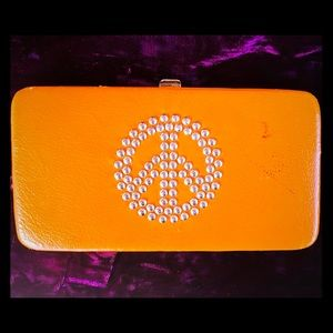Handbags - Vintage Leather PEACE Sign Wallet